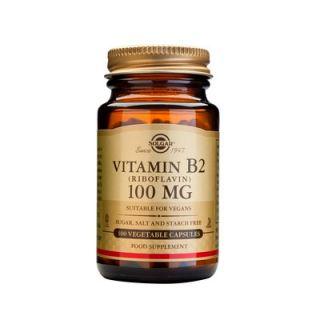 Solgar Vitamin B-2 (Riboflavin) 100mg 100 Veg. Caps