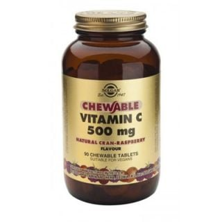 Solgar Vitamin C 500mg 90 Chewable Tabs Rasberry Flavor