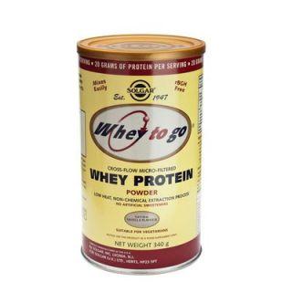 Solgar Whey to Go Protein Powder Vanilla 340gr Πρωτεΐνη σε Σκόνη Γεύση Βανίλια