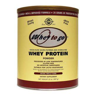 Solgar Whey to Go Protein Powder Vanilla 907gr Πρωτεΐνη σε Σκόνη Γεύση Βανίλια