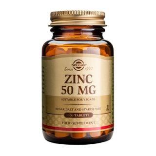 Solgar Zinc Gluconate 50mg 100 Tabs