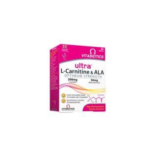 Vitabiotics Ultra L-Carnitine & ALA 60 Tabs Optimum Strength