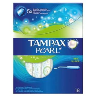 Tampax Pearl Super 18 Items Tampon Anti-leak Protection