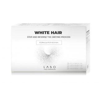 Labo White Hair Treatment Formula for Women 20 Vials x 3.5ml Φόρμουλα για Γυναίκες που Σταματά την Ανάπτυξη Λευκών & Γκρίζων Τριχών και Επαναφέρει το Φυσικό Χρώμα