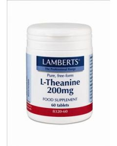 BestPharmacy.gr - Photo of Lamberts L-Theanine 200mg 60 Tabs