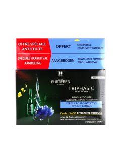 Rene Furterer Triphasic Reactionel Serum 12 X 5ml Αγωγή Κατά Της Αντιδραστικής Τριχόπτωσης + Triphasic Shampoo 100ml Σαμπουάν