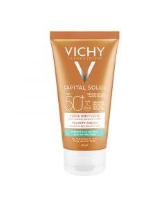 Vichy Capital Soleil Velvety Cream SPF50+ 50ml Βελούδινη Επιδερμίδα Αντιηλιακή Κρέμα Προσώπου για Ξηρές Επιδερμίδες