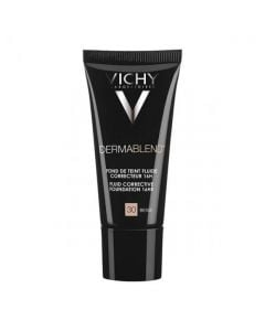 Vichy Dermablend Fond De Teint Fluid Correcteur N30 Beige 30ml Διορθωτικό Καλυπτικό Λεπτόρρευστο Make-Up