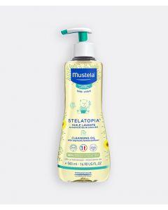 Mustela Stelatopia Παιδικό Λάδι Καθαρισμού για Σώμα + Μαλλιά για Ατοπικό Δέρμα με Ηλίανθο Βιολογικής Καλλιέργειας 500ml