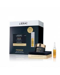 Lierac Promo Premium La Creme Soyeuse 50ml Αντιγηραντική Κρέμα Ελαφριάς Υφής & Δώρο Cica-Filler Αντιρυτιδικός Ορός Επανόρθωσης 10ml