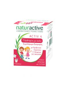 Naturactive Activ 4 Junior 14 Φακελίσκοι Πολυβιταμίνη για Παιδιά από 3 Ετών
