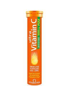Vitabiotics Ultra Βιταμίνη C 1000mg & Ψευδάργυρος με Γεύση Πορτοκάλι 20 αναβράζοντα δισκία
