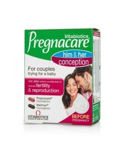 Vitabiotics Pregnacare Him & Her Conception 60 Tabs Γονιμότητα
