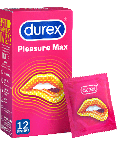 Durex Pleasure Max 12 Τεμάχια Προφυλακτικά Με Κουκκίδες και Ραβδώσεις