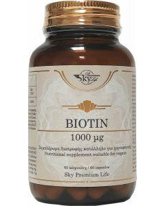 Sky Premium Life Biotin 1000μg Συμπλήρωμα διατροφής Βιοτίνης 60 κάψουλες