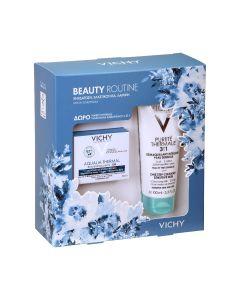 Vichy Beauty Routine - Aqualia Thermal Rehydrating Gel Cream 50ml Ενυδατική Κρέμα Ζελ για Μεικτές Επιδερμίδες + ΔΩΡΟ Purete Thermale 3in1 Γαλάκτωμα Καθαρισμού 100ml