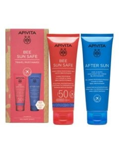Apivita Bee Sun Safe Travel Must-haves Hydra Fresh Face & Body Milk Spf50 100ml & After Sun Cool & Smooth Face & Body Gel-Cream 100ml
