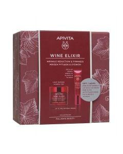 Apivita  Promo Wine Elixir Αντιρυτιδική Κρέμα για Σύσφιξη & Lifting Ελαφριάς Υφής 50ml + Αντιρυτιδική Κρέμα Lifting για τα Μάτια & τα Χείλη 15ml
