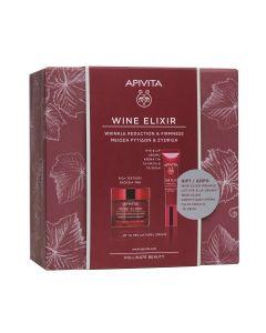 Apivita Promo Wine Elixir Αντιρυτιδική Κρέμα για Σύσφιξη & Lifting Πλούσιας Υφής 50ml + Αντιρυτιδική Κρέμα Lifting για τα Μάτια & τα Χείλη 15ml
