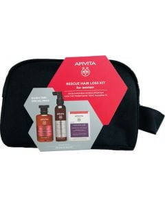 Apivita Rescue Kit Τριχόπτωσης για Γυναίκες με Τονωτικό Σαμπουάν 250ml & Λοσιόν κατά της Τριχόπτωσης 150ml & Συμπλήρωμα Διατροφής για υγιή Μαλλιά και Νύχια 30κάψουλες