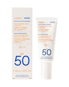 Korres Αντηλιακή Κρέμα-Gel Προσώπου & Ματιών Χωρίς Συνθετικό Άρωμα spf50 40ml