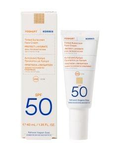 Korres Γιαούρτι Αντηλιακή Κρέμα Προσώπου με Χρώμα Προστασία & Ενυδάτωση spf50 40ml