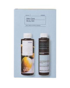 Korres Men Care Body Set με Αφρόλουτρο Βασιλικός-Λεμόνι 250ml & After Shave Καλέντουλα-Ginseng 200ml