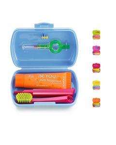 Curaprox Ταξιδιωτικό Πακέτο Στοματικής Υγιεινής Διάφορα Χρώματα (Οδοντόκρεμα 10ml, Οδοντόβουρτσα CS 5460 & Μεσοδόντιο Βουρτσάκι)