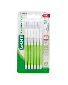 Gum Bi-Direction 2114 Μεσοδόντιο Βουρτσάκι 0,7mm 6 τεμάχια