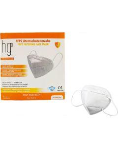 Hg 10 Τεμάχια Μάσκα FFP2 ( KN95 ) 5ply Λευκή