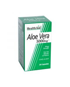 Health Aid Aloe Vera 5000mg 30 Caps Αποτοξινωτικό Αλόη Βέρα