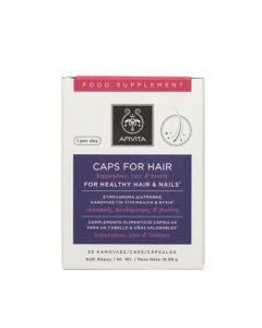Apivita Caps For Hair Hippophae, Zinc & Biotin 30 Caps