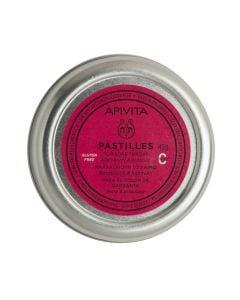 Apivita Pastilles Blackberry & Propolis 45gr Παστίλιες με Βατόμουρο & Πρόπολη