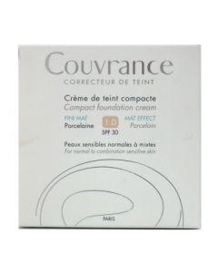 Avene Couvrance Creme de Teint Compacte FINI MAT SPF30 10gr 1.0 Porcelaine