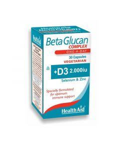 Health Aid Beta Glucan Complex  30 Caps Ανοσοποιητικό