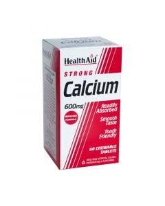Health Aid Calcium 600mg Μασώμενο 60 Tabs