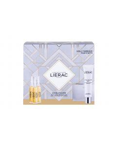 Lierac Cica-Filler Αντιρυτιδικός Επανορθωτικός Ορός 3 x 10ml + Δώρο Cica-Filler Mat Gel-Cream 40ml &  Δερμάτινο Πορτοφόλι