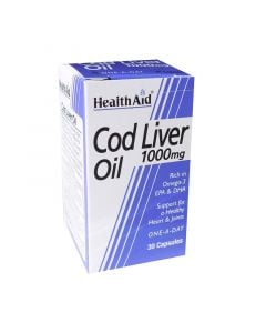 Health Aid Cod Liver Oil 1000mg 30 Caps Μουρουνέλαιο