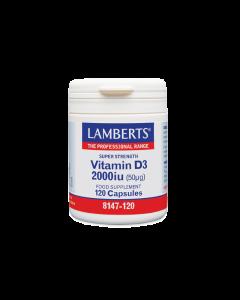 Lamberts Vitamin D3 2000iu 120 Caps Βιταμίνη D3