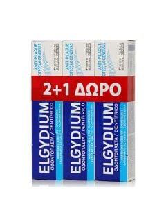 Elgydium Antiplaque Toothpaste 3 x 100ml