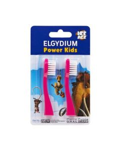 Elgydium Power Kids Ice Age Pink Heads