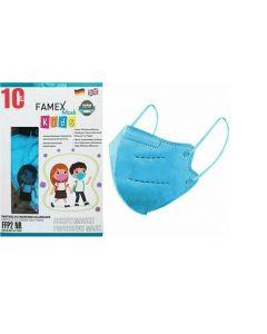 Famex FFP2 Μπλε 10τμχ Παιδική Μάσκα Προστασίας