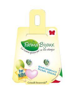 Farma Bijoux Green Hearts 5 x 5.5mm