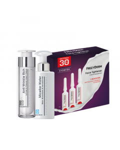 Frezyderm Promo Pack Anti-Wrinkle Rich Night Cream 45+  50ml + Micellar Water Deep Cleansing & Detoxifying 200ml + Face Tightener Cream Booster (3x5ml)