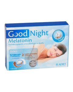 Eladiet Good Night Melatonin Nutritional Supplement for Insomnia, 30Tablets