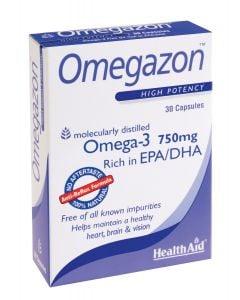 Health Aid Omegazon Blister 30 Caps Ιχθυέλαιο