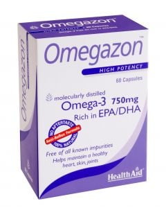 Health Aid Omegazon Blister 60 Caps Ιχθυέλαιο