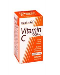 Health Aid Vitamin C 1gr Μασώμενη 30 Tabs
