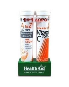 Health Aid Health Aid A to Z Multi with CoQ10 + FREE Vitamin C 1000mg