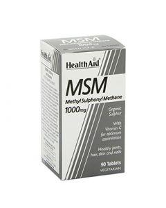 Health Aid MSM MethylSulphonylMethane 90 Vetabs